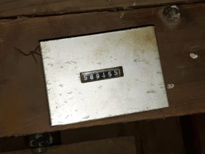 de teller op de bovenas van molen Woldzigt - Roderwolde