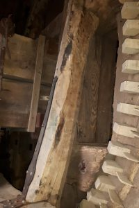 Stut in bovenwiel in Olie- en Korenmolen Woldzigt