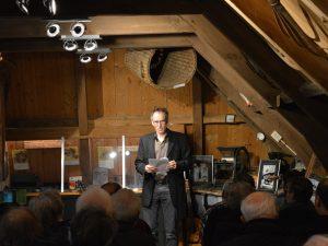 dichter Meert Moand Dialect Moand in het Graanmuseum van Olie- en Korenmolen Woldzigt Roderwolde