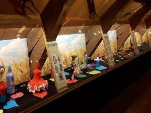 expositie Het Palet in het graanmuseum van Olie- en Korenmolen Woldzigt Roderwolde