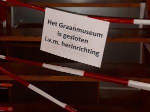 Graanmuseum in Olie- en Korenmolen Woldzigt - Roderwolde tijdelijk gesloten ivm herinrichting