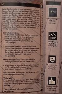 Beschrijving en gebruiksaanwijzing hardhoutolie van Olie- en Korenmolen Woldzigt